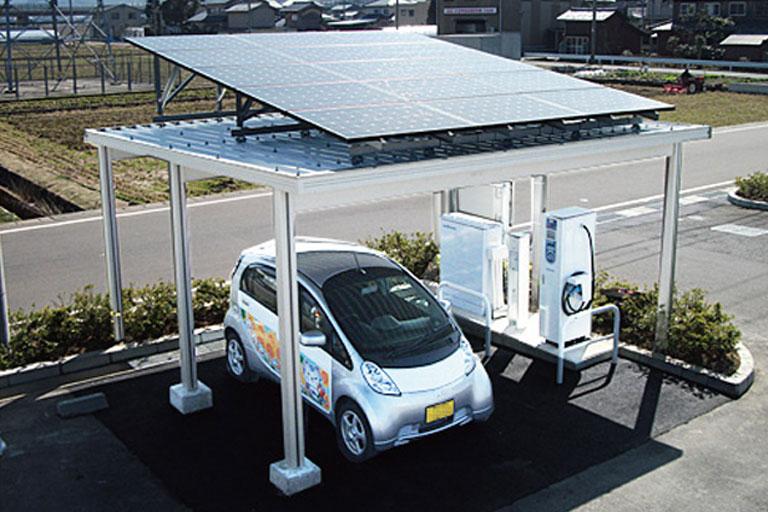 太陽光発電システム搭載 専用カーポート